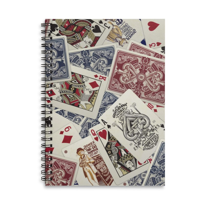 Parlour cards pattern Accessories Notebook by stockholm17's Artist Shop