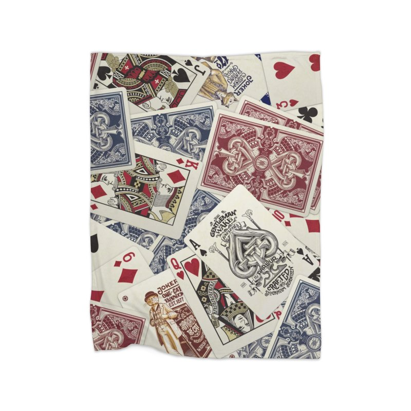 Parlour cards pattern Home Blanket by stockholm17's Artist Shop