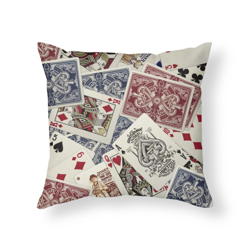Parlour cards pattern Home Throw Pillow by stockholm17's Artist Shop
