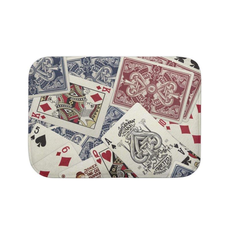 Parlour cards pattern Home Bath Mat by stockholm17's Apparel Shop