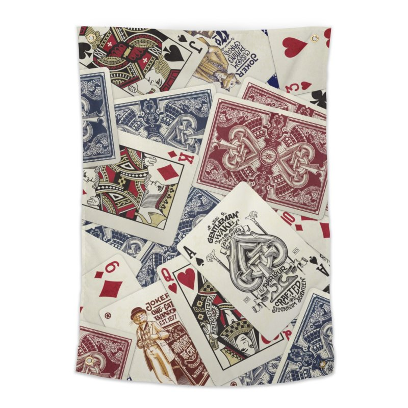 Parlour cards pattern Home Tapestry by stockholm17's Artist Shop