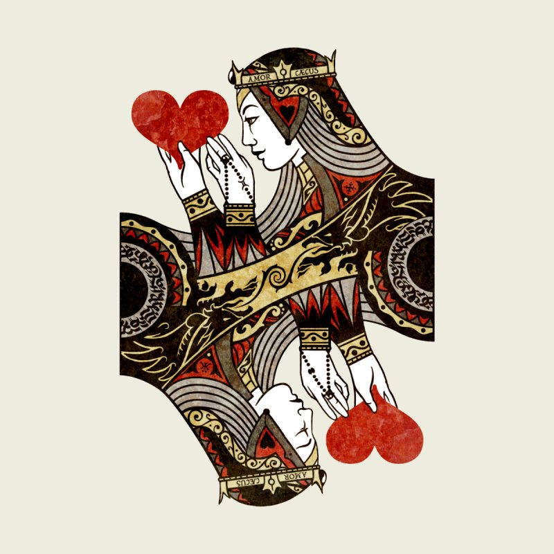Gemini Queen of Hearts Men's T-Shirt by stockholm17's Artist Shop