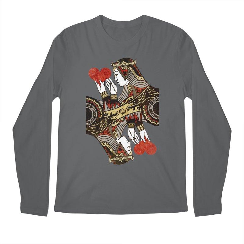 Gemini Queen of Hearts Men's Longsleeve T-Shirt by stockholm17's Artist Shop