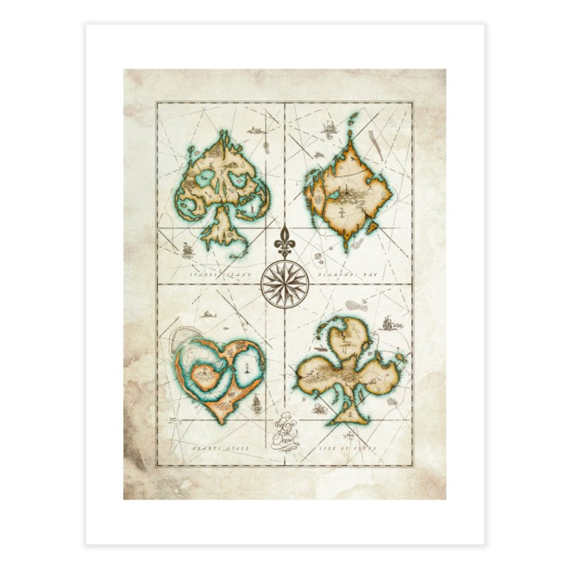 4 ACES PRINT - The Eye of the Ocean Home Fine Art Print by stockholm17's Artist Shop