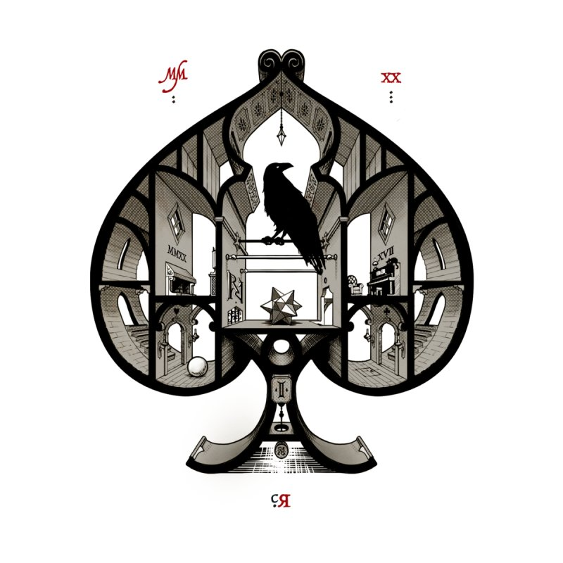 RAVN IIII - Ace of Spades Men's T-Shirt by stockholm17's Artist Shop
