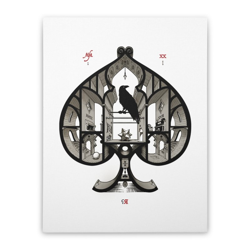 RAVN IIII - Ace of Spades Home Stretched Canvas by stockholm17's Artist Shop