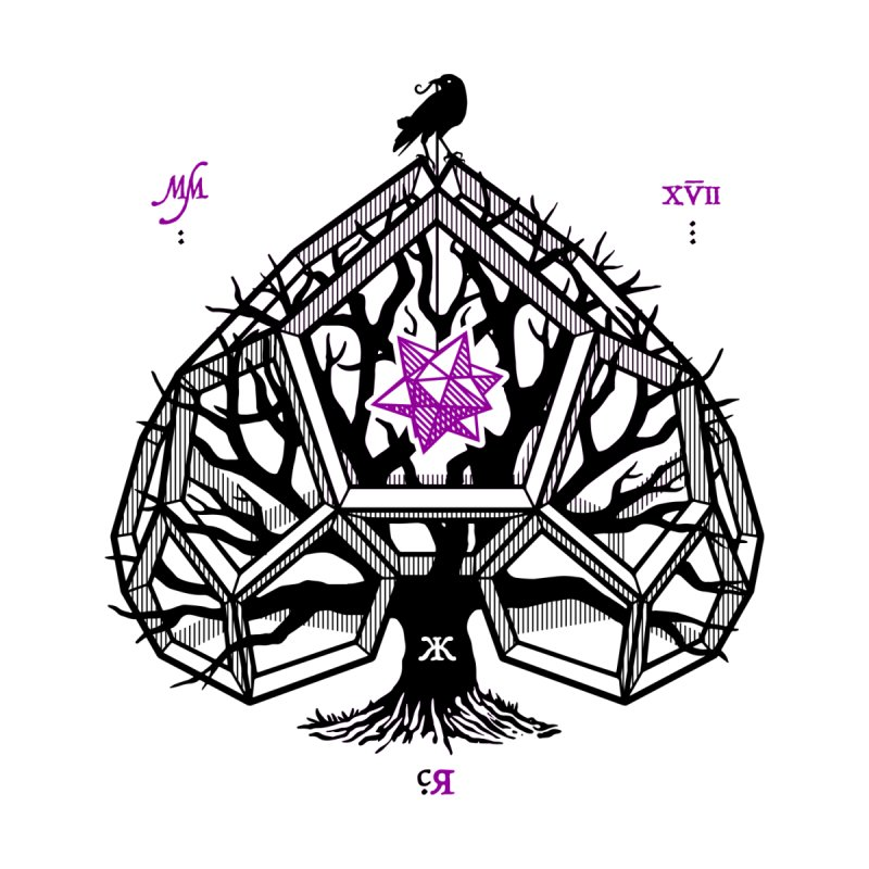 Ravn Purple Haze - Ace of Spades Home Stretched Canvas by stockholm17's Artist Shop