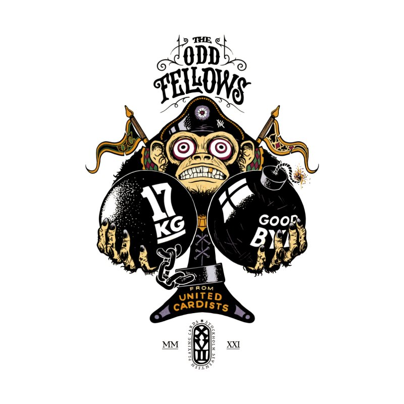 Odd Fellows - Monkey Business Ace of Spades Men's T-Shirt by stockholm17's Artist Shop