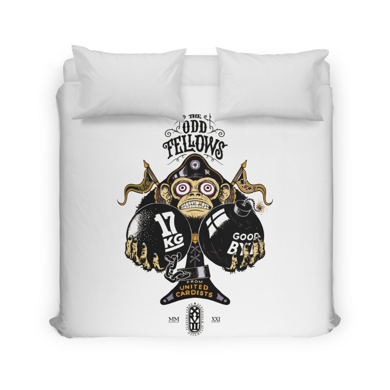Odd Fellows - Monkey Business Ace of Spades Home Duvet by stockholm17's Artist Shop