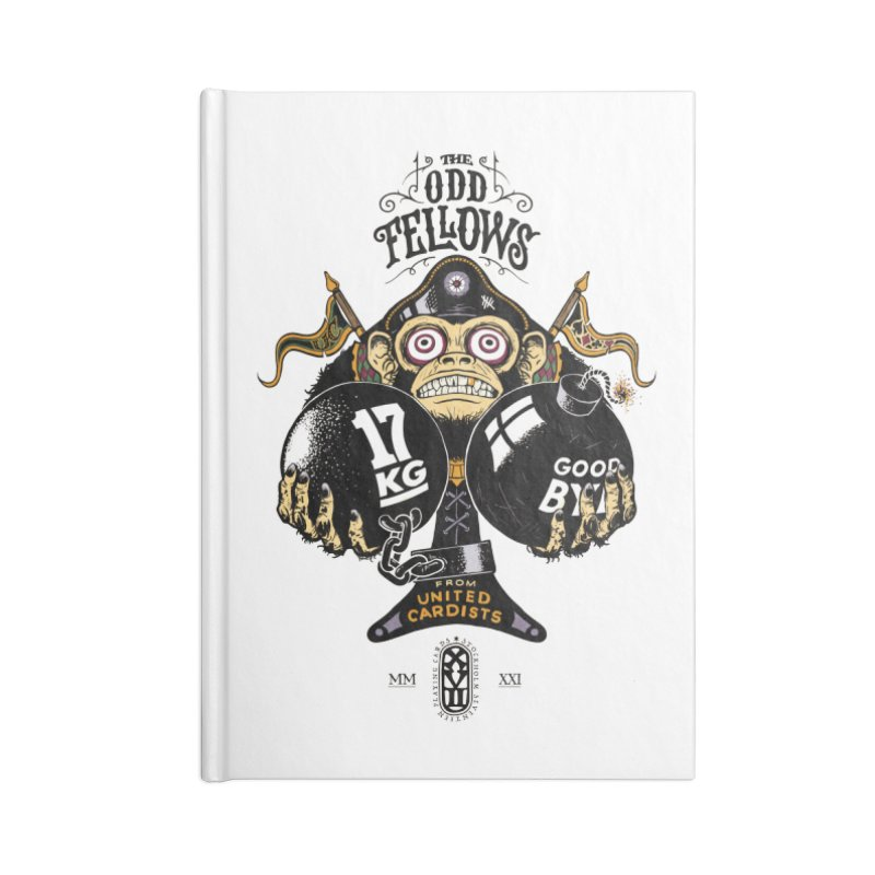 Odd Fellows - Monkey Business Ace of Spades Accessories Notebook by stockholm17's Artist Shop