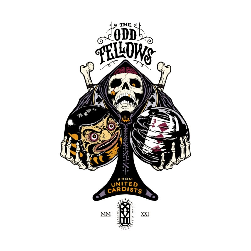 Odd Fellows - Uncle Tibia Ace of Spades Home Throw Pillow by stockholm17's Artist Shop