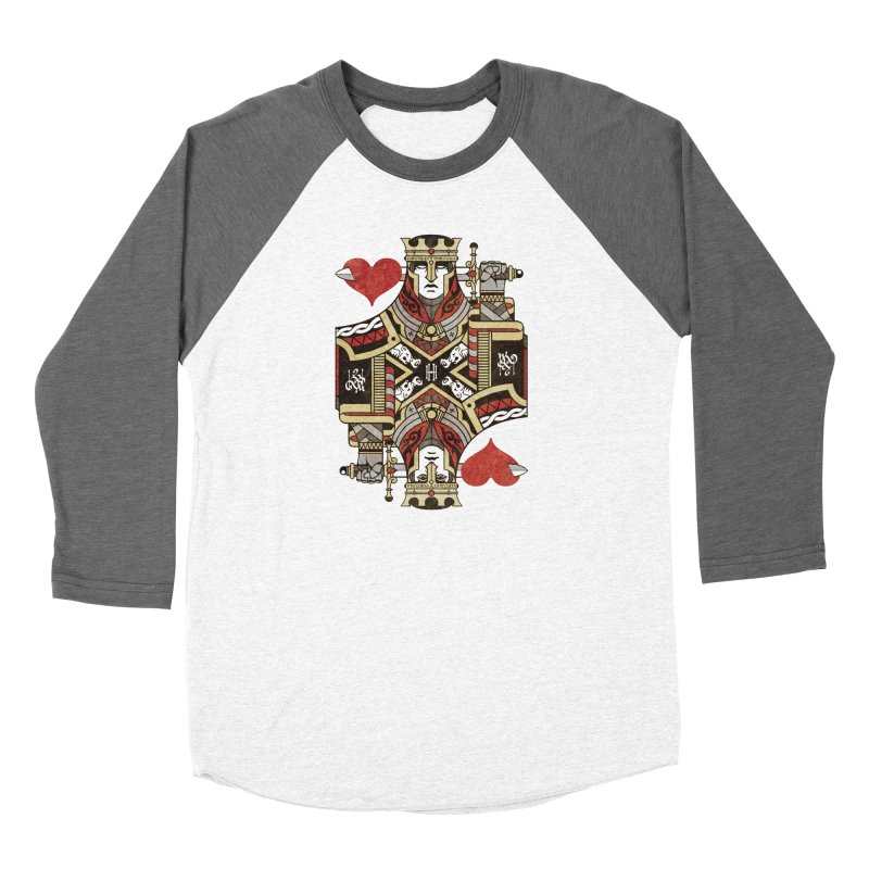 Gemini Playing Cards - King of Hearts Women's Longsleeve T-Shirt by stockholm17's Apparel Shop