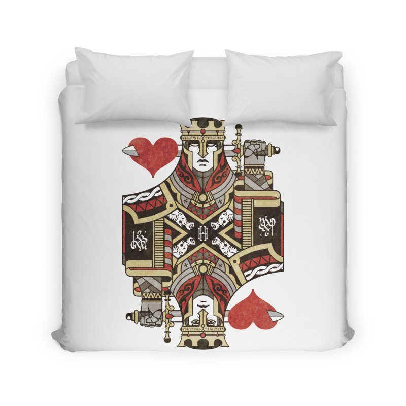 Gemini Playing Cards - King of Hearts Home Duvet by stockholm17's Artist Shop