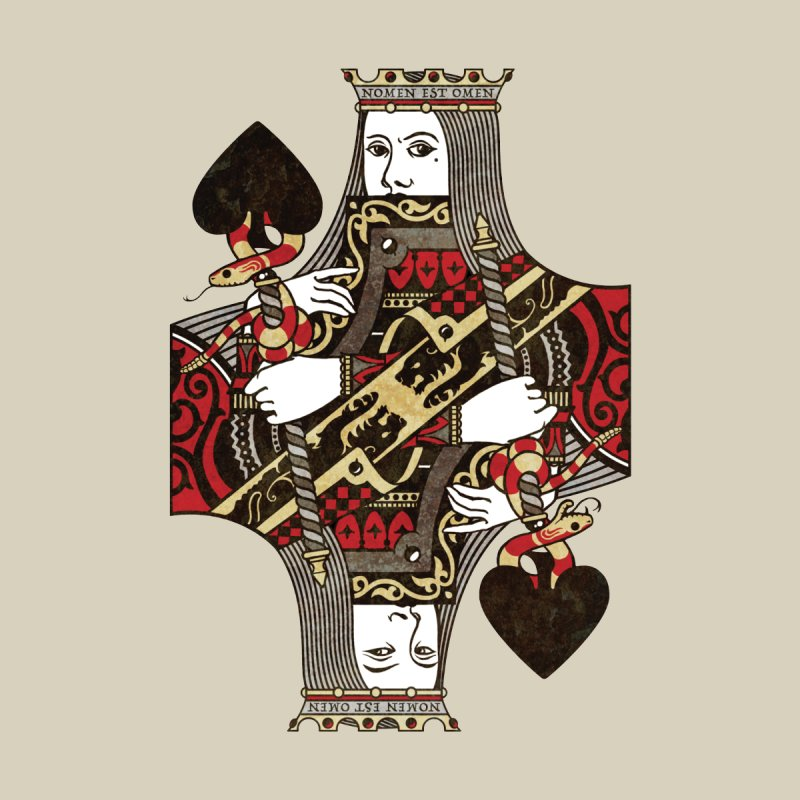 Gemini Playing Cards - Queen of Spades Home Bath Mat by stockholm17's Artist Shop