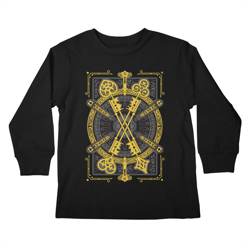 The House of the Rising Spade - Back Design Kids Longsleeve T-Shirt by stockholm17's Artist Shop