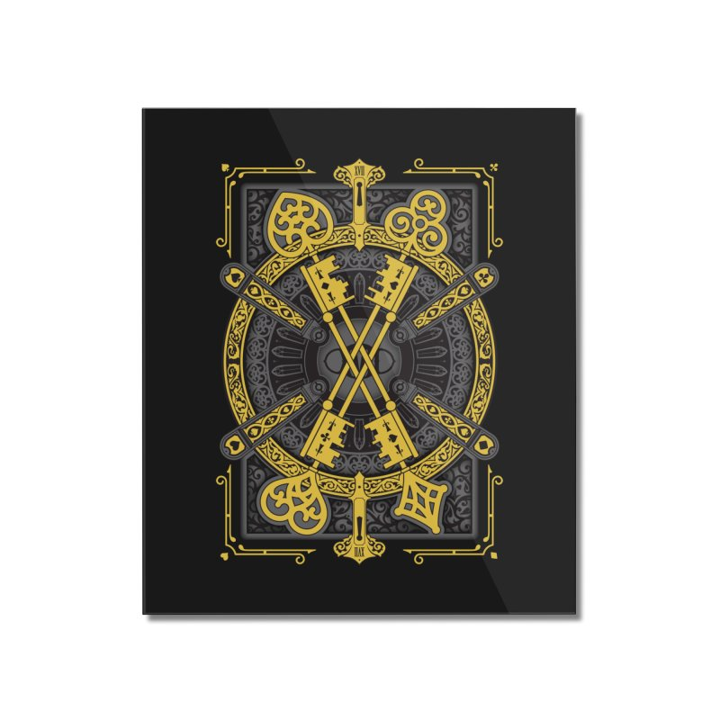 The House of the Rising Spade - Back Design Home Mounted Acrylic Print by stockholm17's Artist Shop