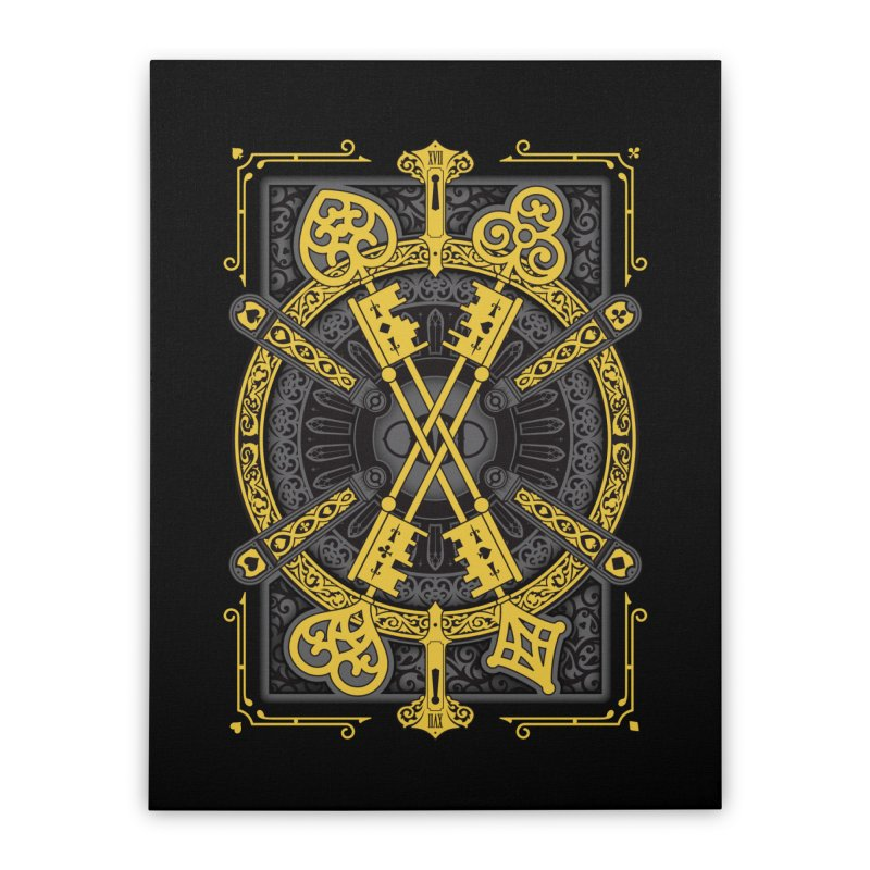 The House of the Rising Spade - Back Design Home Stretched Canvas by stockholm17's Artist Shop