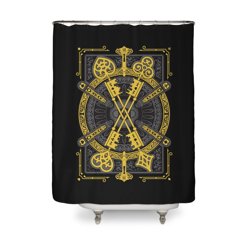 The House of the Rising Spade - Back Design Home Shower Curtain by stockholm17's Artist Shop