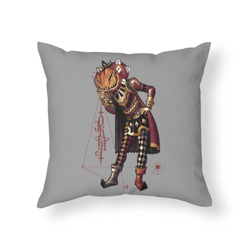 Joker O'Lantern Home Throw Pillow by stockholm17's Artist Shop