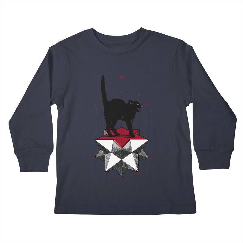 Ravn Joker Cat Kids Longsleeve T-Shirt by stockholm17's Artist Shop