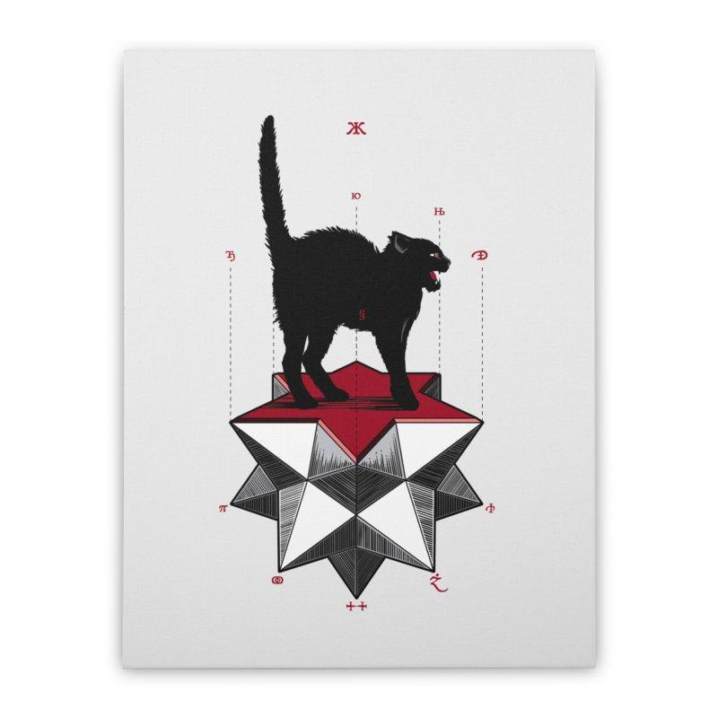 Ravn Joker Cat Home Stretched Canvas by stockholm17's Artist Shop