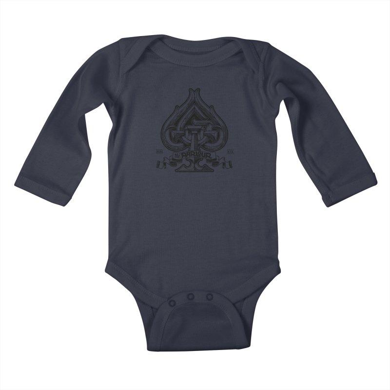 TGW monogram v2 Kids Baby Longsleeve Bodysuit by stockholm17's Apparel Shop