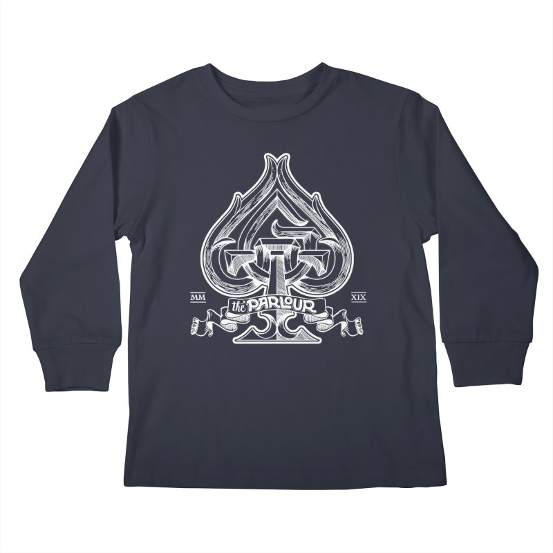 TGW monogram v2 in white Kids Longsleeve T-Shirt by stockholm17's Artist Shop