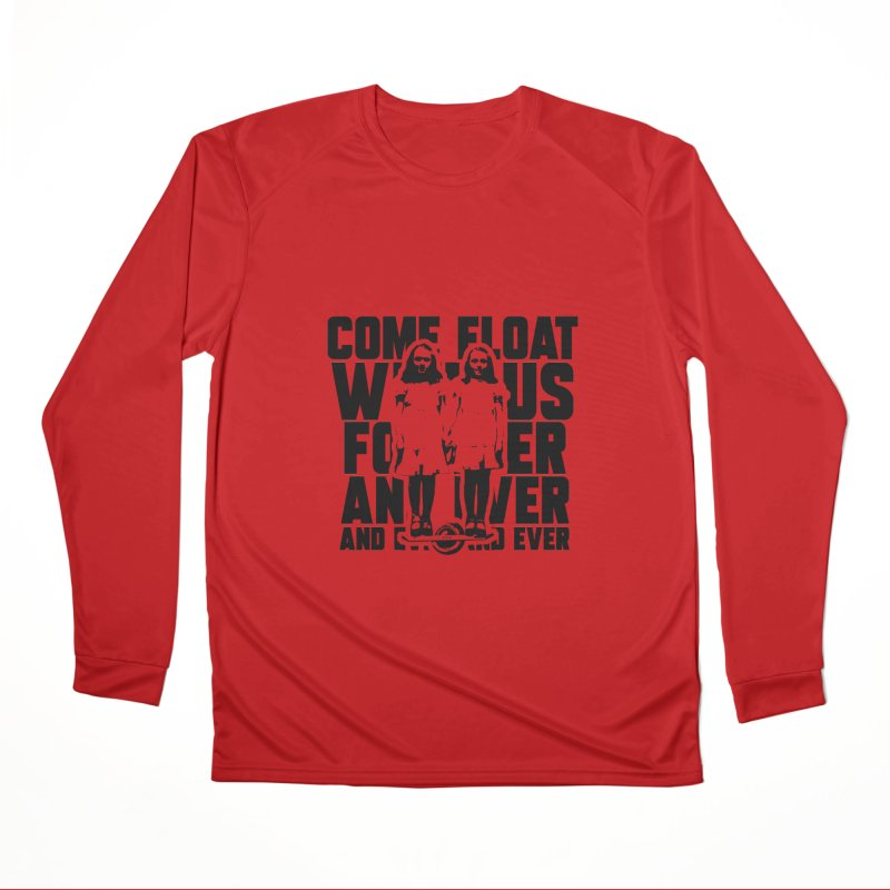 Come Float With Us - Black Men's Performance Longsleeve T-Shirt by Stoke Butter - Spread the Stoke