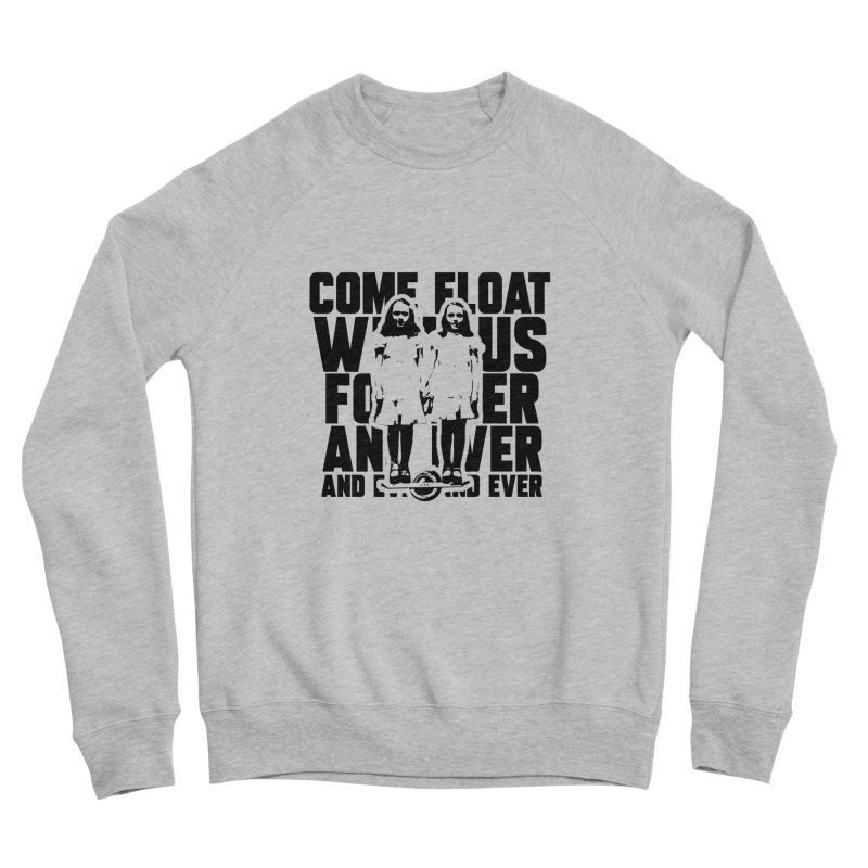 Come Float With Us - Black Men's Sponge Fleece Sweatshirt by Stoke Butter - Spread the Stoke