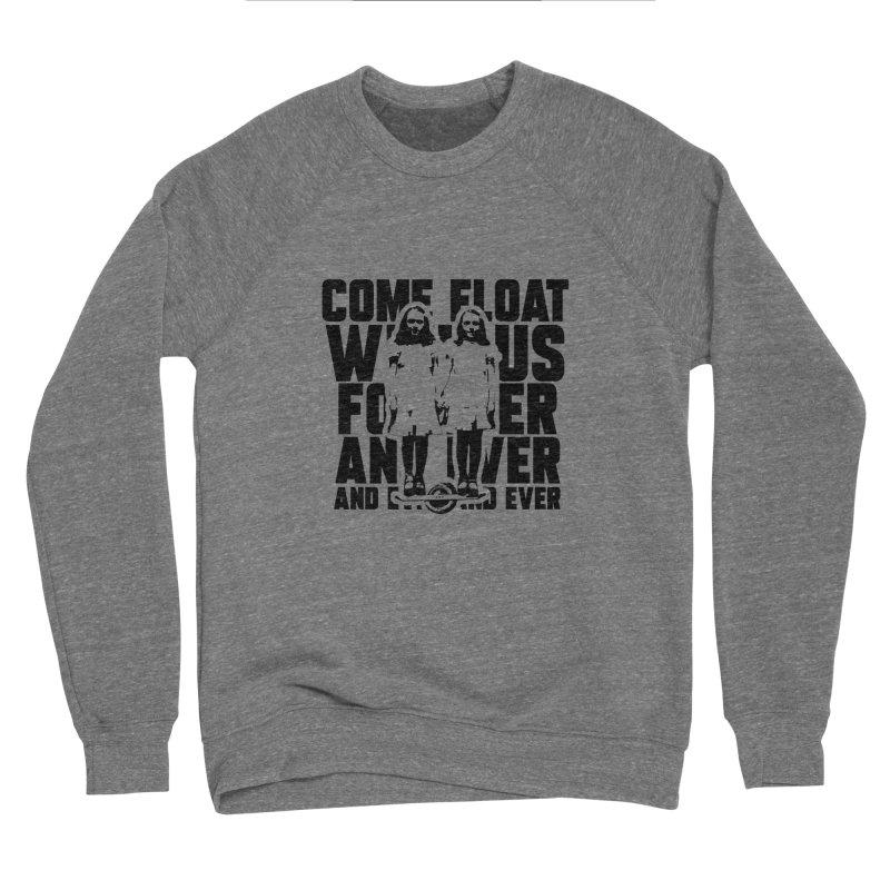 Come Float With Us - Black Women's Sponge Fleece Sweatshirt by Stoke Butter - Spread the Stoke