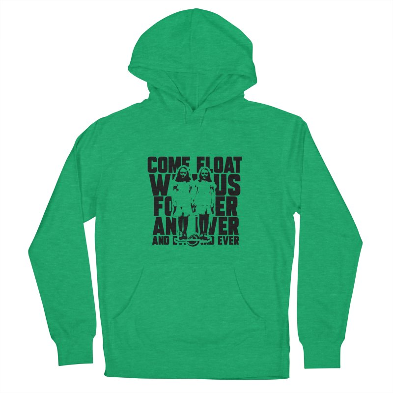 Come Float With Us - Black Men's French Terry Pullover Hoody by Stoke Butter - Spread the Stoke