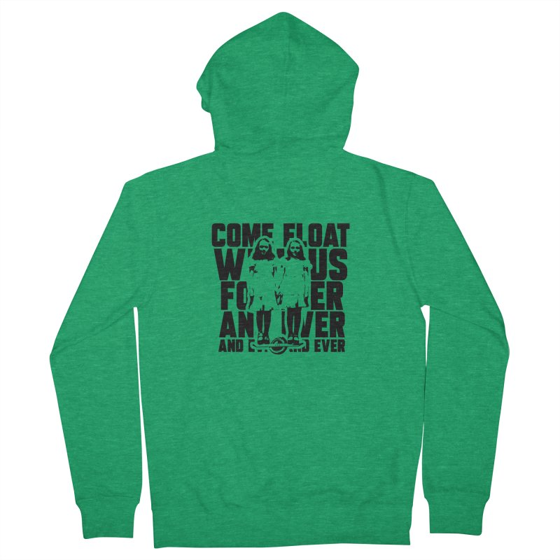Come Float With Us - Black Women's Zip-Up Hoody by Stoke Butter - Spread the Stoke