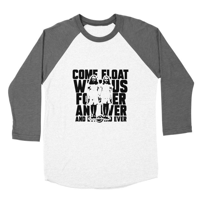 Come Float With Us - Black Men's Baseball Triblend Longsleeve T-Shirt by Stoke Butter - Spread the Stoke