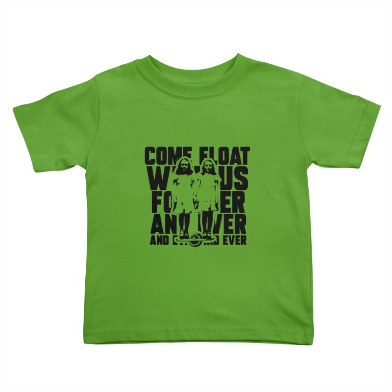 Come Float With Us - Black Kids Toddler T-Shirt by Stoke Butter - Spread the Stoke