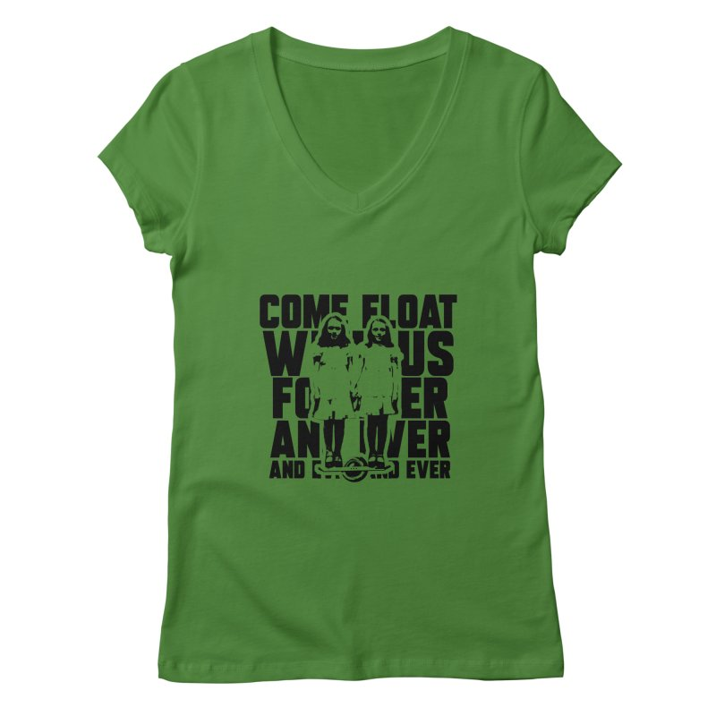 Come Float With Us - Black Women's V-Neck by Stoke Butter - Spread the Stoke