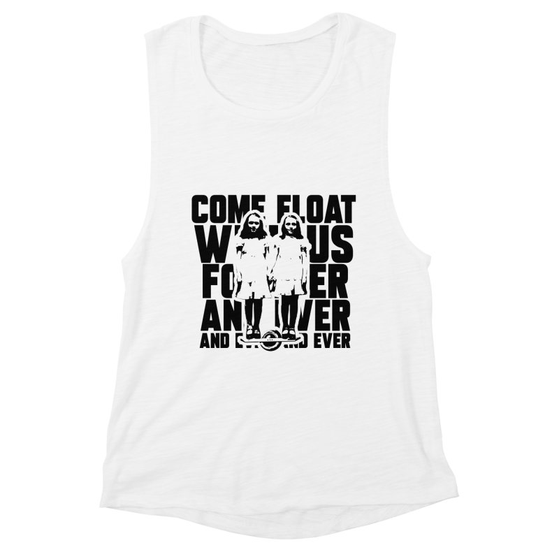 Come Float With Us - Black Women's Tank by Stoke Butter - Spread the Stoke