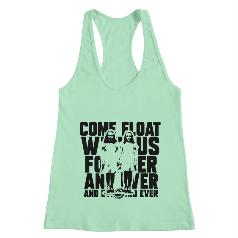 Come Float With Us - Black Women's Racerback Tank by Stoke Butter - Spread the Stoke