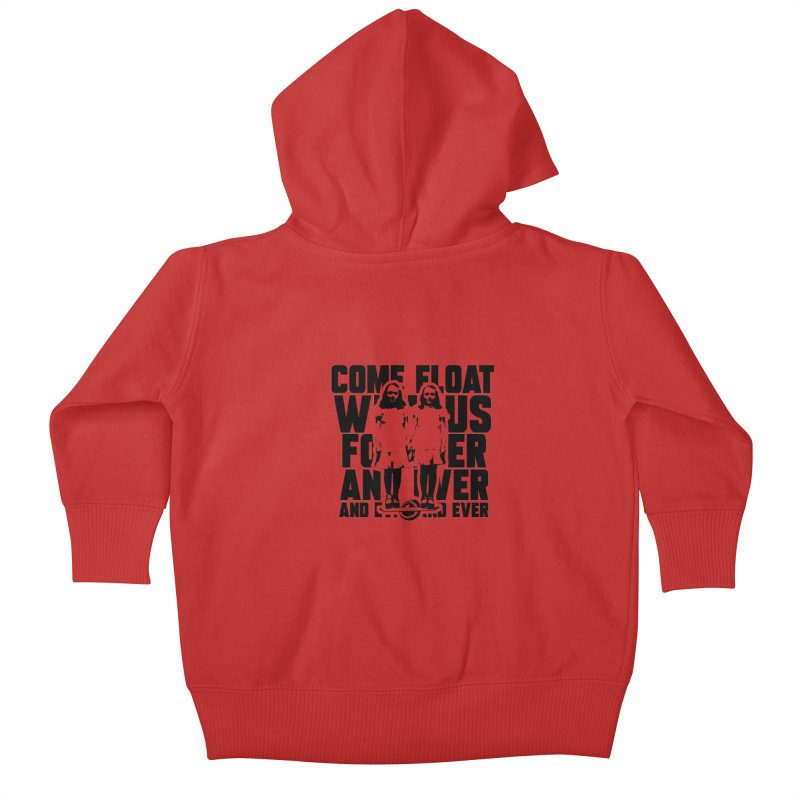 Come Float With Us - Black Kids Baby Zip-Up Hoody by Stoke Butter - Spread the Stoke