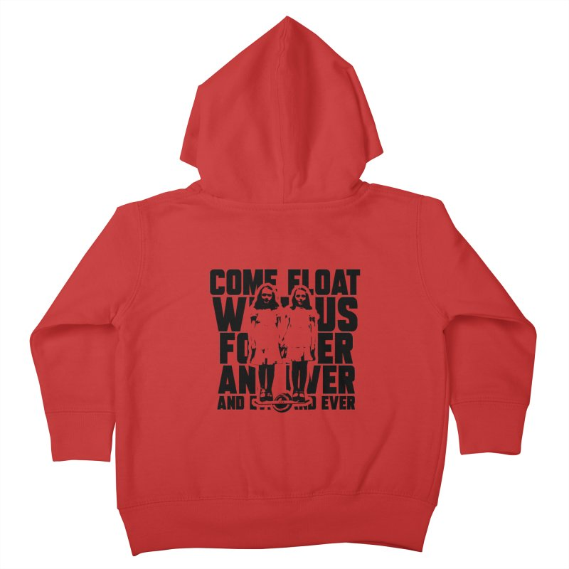 Come Float With Us - Black Kids Toddler Zip-Up Hoody by Stoke Butter - Spread the Stoke