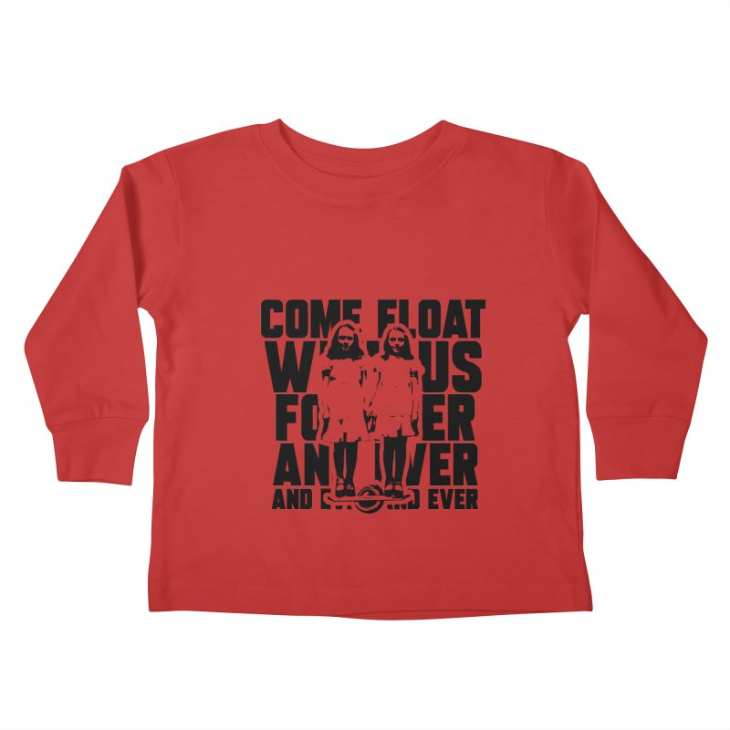 Come Float With Us - Black Kids Toddler Longsleeve T-Shirt by Stoke Butter - Spread the Stoke