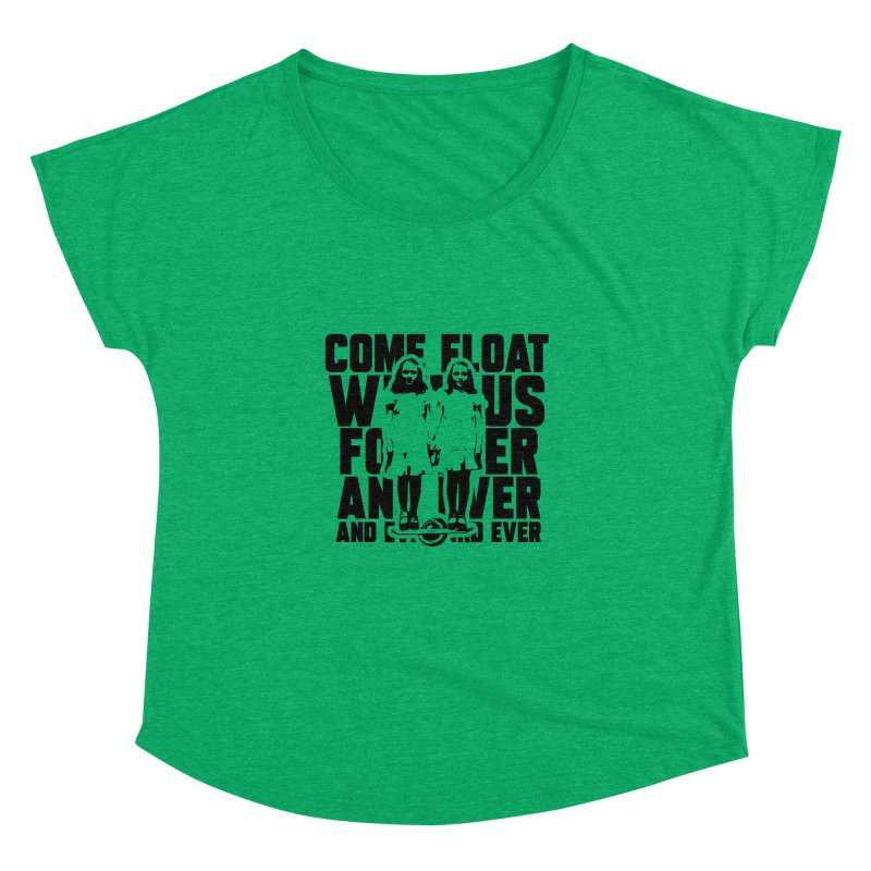 Come Float With Us - Black Women's Dolman Scoop Neck by Stoke Butter - Spread the Stoke