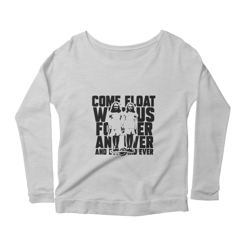 Come Float With Us - Black Women's Scoop Neck Longsleeve T-Shirt by Stoke Butter - Spread the Stoke