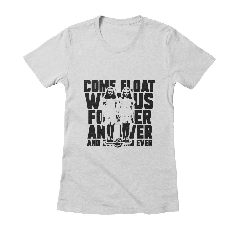 Come Float With Us - Black Women's Fitted T-Shirt by Stoke Butter - Spread the Stoke