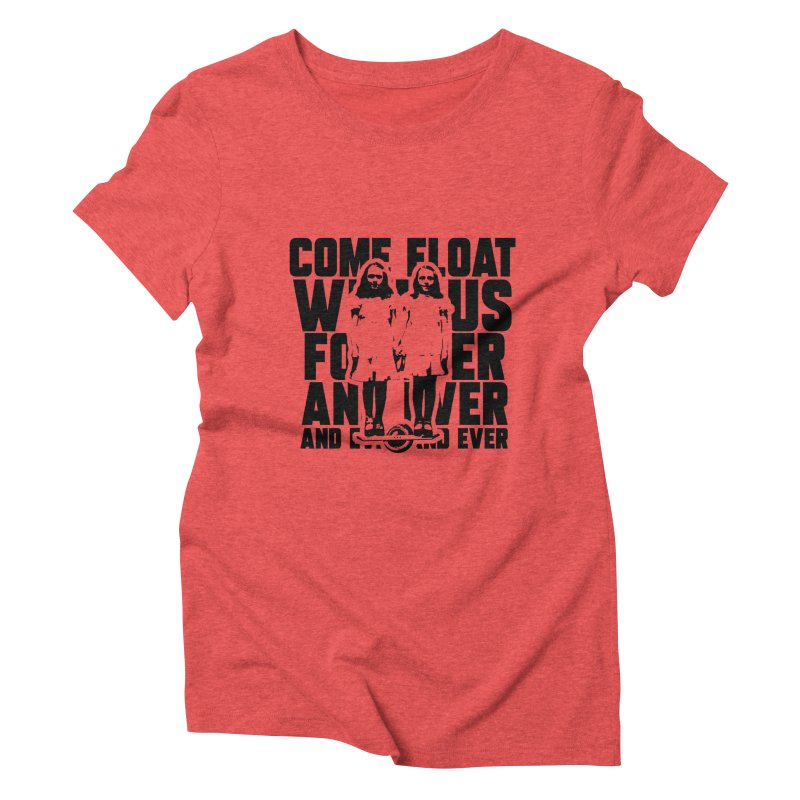 Come Float With Us - Black Women's Triblend T-Shirt by Stoke Butter - Spread the Stoke
