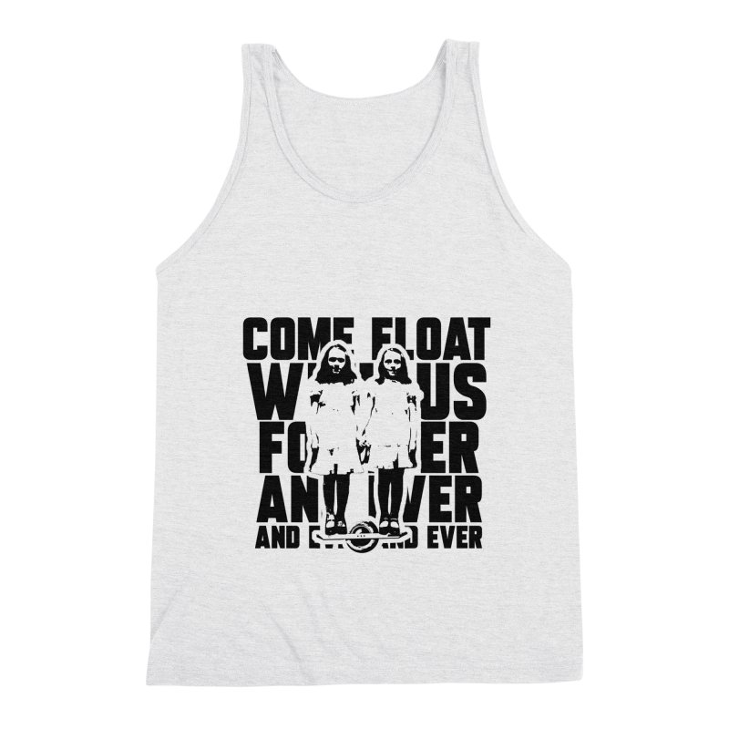 Come Float With Us - Black Men's Triblend Tank by Stoke Butter - Spread the Stoke
