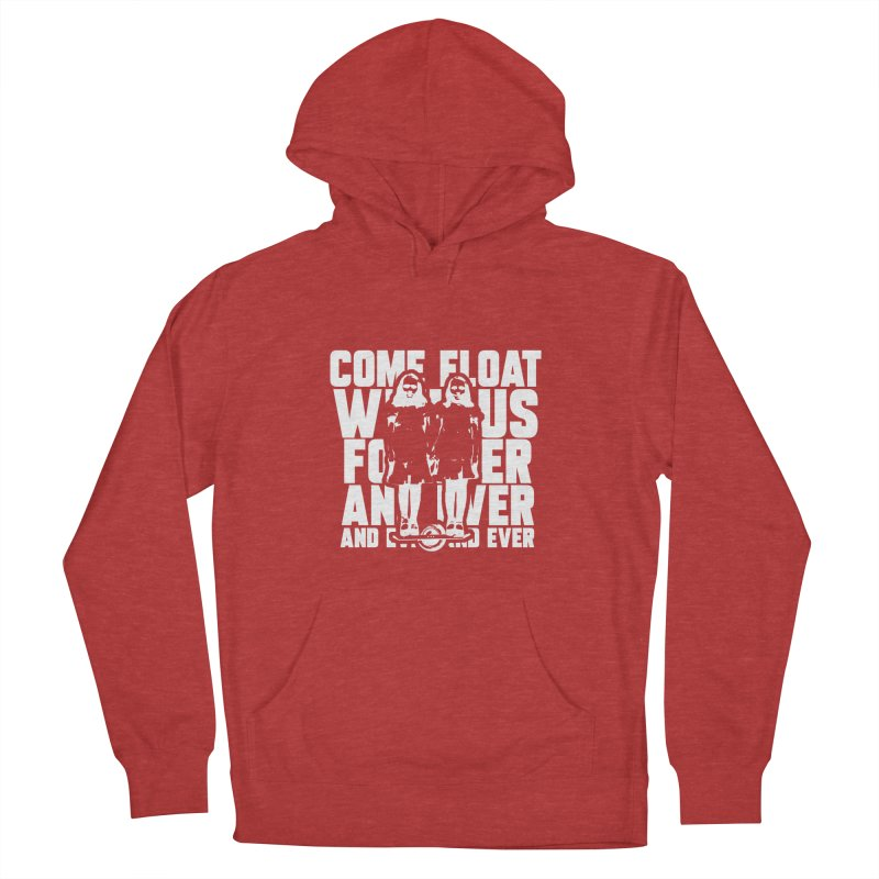 Come Float With Us - White Women's French Terry Pullover Hoody by Stoke Butter - Spread the Stoke