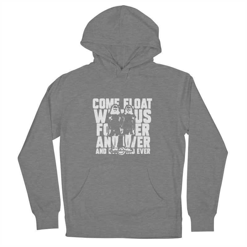 Come Float With Us - White Men's French Terry Pullover Hoody by Stoke Butter - Spread the Stoke