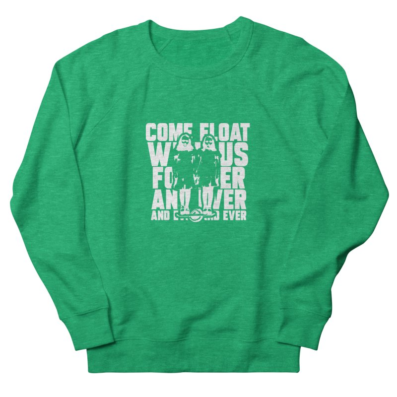 Come Float With Us - White Men's French Terry Sweatshirt by Stoke Butter - Spread the Stoke