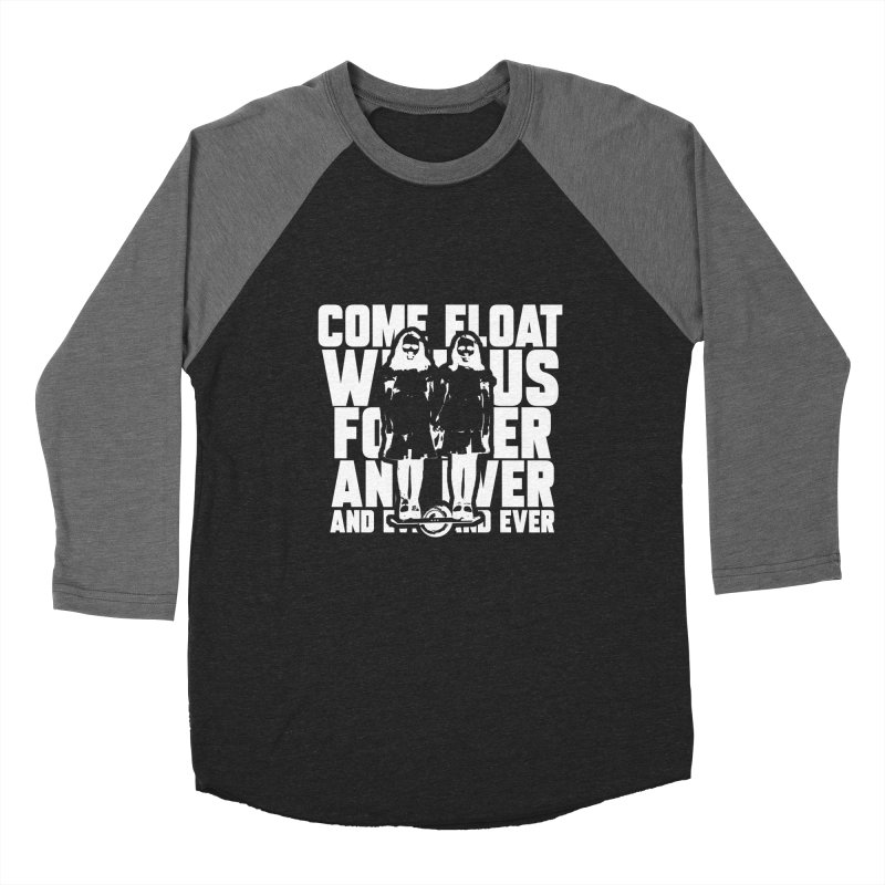 Come Float With Us - White Men's Baseball Triblend Longsleeve T-Shirt by Stoke Butter - Spread the Stoke