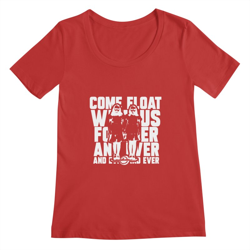 Come Float With Us - White Women's Regular Scoop Neck by Stoke Butter - Spread the Stoke